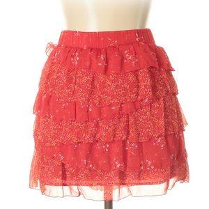 Red Ruffle Skirt!